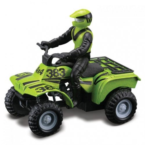 Maisto Racing #383 (Lime Green) * Off-Road Series Motorized ATV * 2010 Maisto ATV's Fresh Metal Pull-Back Motor Die-Cast Vehicle - 1