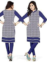 Shree Hans Creation Navy Blue Pure Jute Cotton XL Size Stitched Kurti