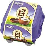 Milka Löffel-Ei, Milchcrème Schokoladeneier 136g 4er Pack (4 x 136 g)