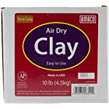 AMACO Air Dry Modeling Clay, 10-Pound, Terra Cotta