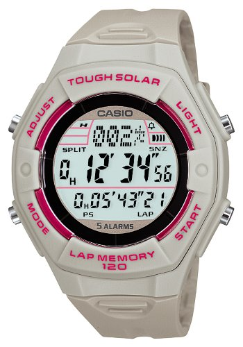 [CASIO] CASIO watch SPORTS GEAR sports gear runners model tough solar wrap and the split time up 120 books memory LW-S200H-8AJF