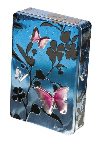 Churchill's Blue and Pink Butterflies Tin with Belgian Chocolate Biscuits 300 g