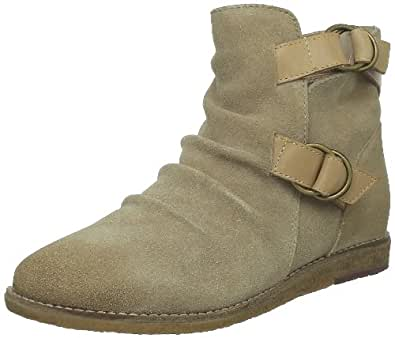 Hush Puppies Winsey Ankle Boot, Boots femme - Gris (Taupe Waxy Suede), 36 EU