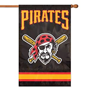 MLB Pittsburgh Pirates Applique Banner Flag by Party Animal