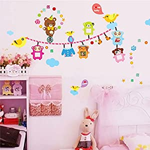 Best Deal DIY Wall Stickers Wallpaper Home House Decor Livingroom Bedroom Decoration - Lovely Cartoon Little Winnie Bear Bird