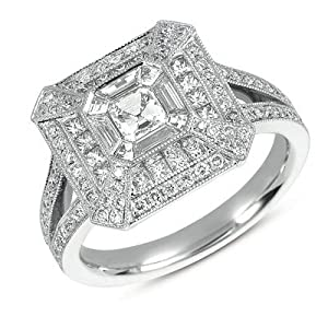 14k 1.25 Dwt Diamond White Gold M.pave Ring - JewelryWeb
