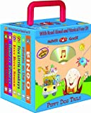 Puppy Dog Tails 6-book Travel Pack, Mother Goose Nursery Rhymes (with audio CD and carrying case) (Travel Pack) (Read-Aloud Board Book)