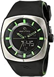 Rip Curl Men's A2759 Stainless Steel Analog-Digital Watch with Black Silicone Band