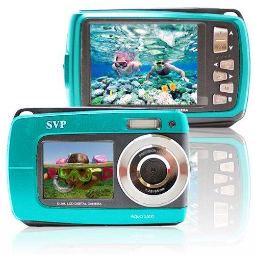 Aqua 5500 Blue (with Micro 4GB) 18 MP Dual Screen Waterproof Digital Camera