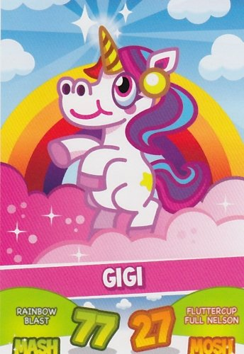 Topps No.36 Gigi Ponies Moshi Monsters Mash Up Trading Card