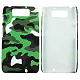Heartly Army Style Retro Color Armor Hybrid Hard Bumper Back Case Cover For Motorola Droid MAXX XT1080M - Army Green