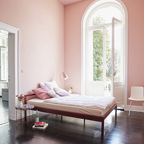 Luga Bett Stahl 180 x 200 cm - purpurrot