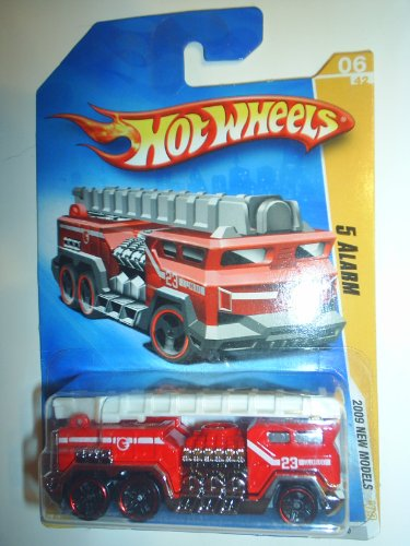 Hot Wheels 2009 New Models 5 Alarm w/ Black PR5s