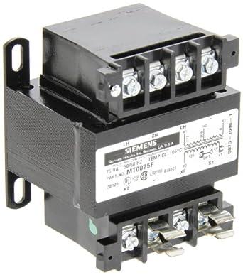 Siemens MT0075F Industrial Power Transformer, Domestic, 208/277 Primary Volts 50/60Hz, 120 Secondary Volts, 75VA Rating