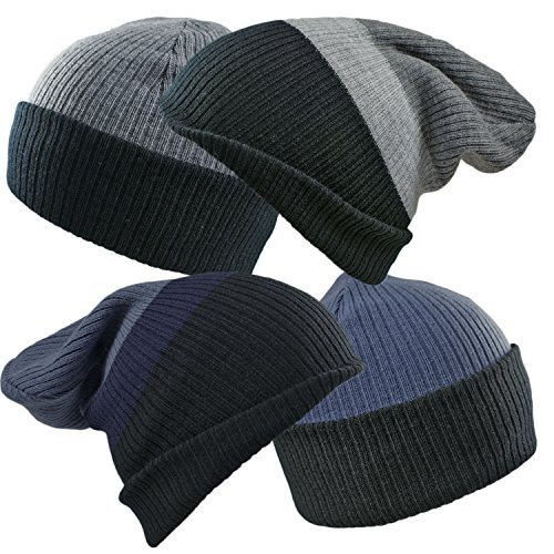 unisex-mens-ladies-4-in-1-fully-reversible-striped-slouch-beanie-skull-cap-4-different-looks-from-1-
