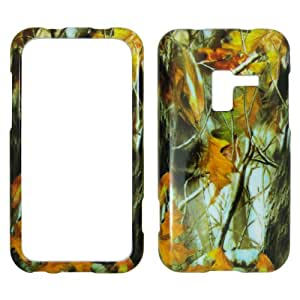 Samsung Conquer 4G D600 - Camo Camouflage Dry Leaves and Branch Plastic Case, SnapOn, Protector, Cover