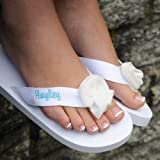 Personalized Flip Flops - White