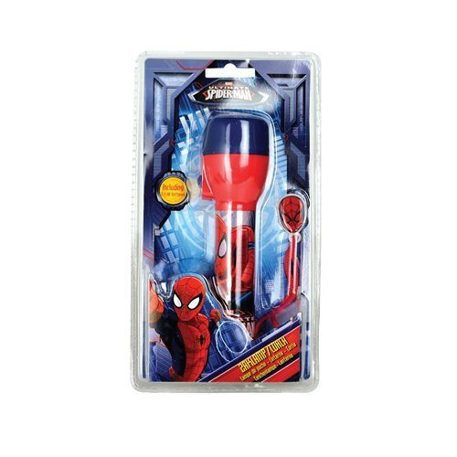 status-spiledtorch1pk4-spiderman-led-plastic-torch-red