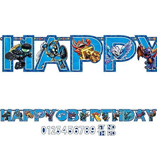 Skylanders 10 1/2ft. Add-An-Age Letter Banner (Each) - Party Supplies