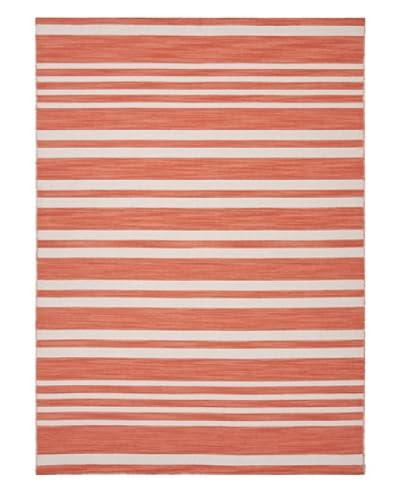 Jaipur Rugs Flat Weave Striped Handmade Rug, Red/Orange, 10' x 14'