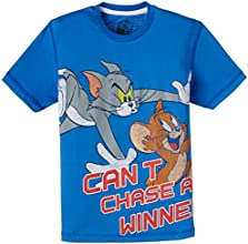 Tom and Jerry Boys' T-Shirt (TJ0DBT775_Palace Blue_13-14 years)
