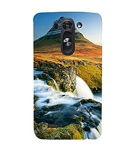 printtech Scenic Waterfall Green Mountain Back Case Cover for LG G3 Beat::LG G3 Vigor::LG G3s::LG g3s Dual