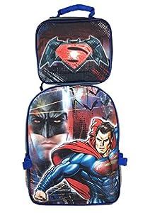 "Dc Comics Batman V Superman 16"" Large School Detachable Backpack (Black/Blue) at Gotham City Store"