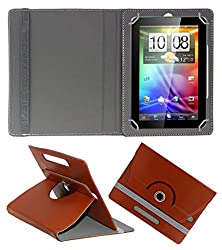 Acm Rotating 360° Leather Flip Case For Byond Laplet L9 Plus Tablet Stand Cover Holder Brown