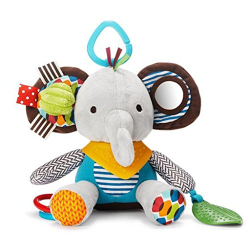 Gimilife-Cartoon-Elephant-Baby-Teether-Toys-Baby-Activity-Plush-Toy-Baby-Car-Seat-Stroller-Bell-Toys