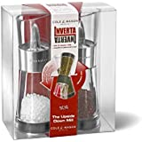 Cole & Mason 15.4 cm Inverta Flip Acrylic and Chrome Salt & Pepper Mill Gift Set