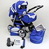2 in 1 Travel System All in One Set SIMON NEW - incl. Pram and Sport Buggy - Hard Rubber Tires - 2. Bordeaux-Pink-Light