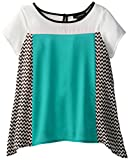 My Michelle Big Girls' Color-Block Top with Chevron Back