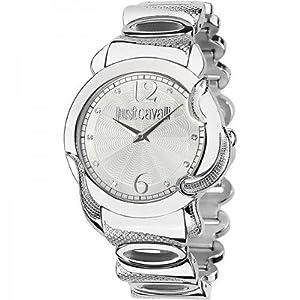 Just Cavalli Women's R7253576503 Eden Round Stainless Steel Silver Guilloche Dial Watch
