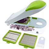Freshware KT-402GT 3-in-1 Onion, Vegetable, Fruit, and Cheese Chopper, Light Green