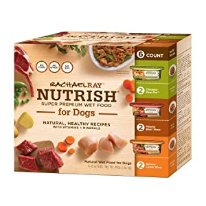 2X Rachael Ray Nutrish Natural Wet Dog Food, Variety Pack, Grain Free, 8 oz tub, Pack of 6