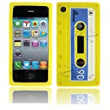 Cassette Retro Tape Cover for iPhone 3G 3GS Gel Silicone Stylish Case Skin Yellow from gadget Zoo