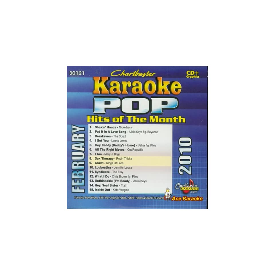 Chartbuster Karaoke CDG CB30121 Pop Hits of the Month