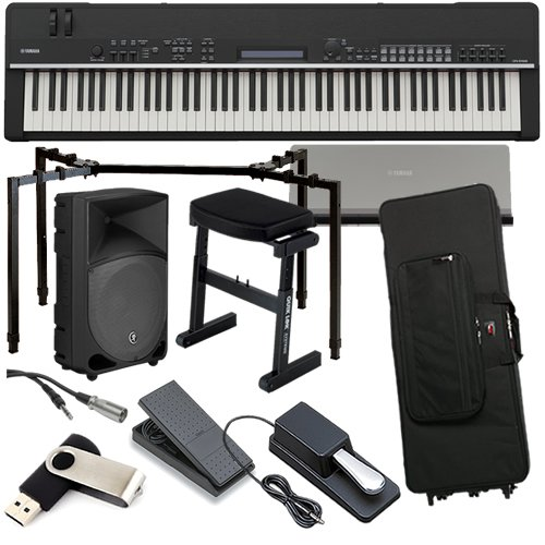 Yamaha CP4 Piano STAGE BUNDLE w/ Speaker, Case, Stand, Bench