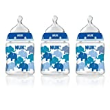 NUK Fashion Orthodontic Bottle, Boy, 5 Ounce, 3-Count
