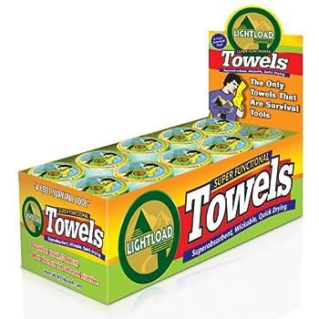 Lightload Towels - Serviettes 30x60cm (Boîte de 50 unités) - La seule serviette pouvant également servir d'équipement de survie!