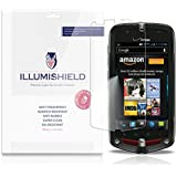 iLLumiShield - Casio G'zOne Commando 4G LTE Crystal Clear Screen Protectors with Anti-Bubble/Anti-Fingerprint - 3-Pack + Lifetime Replacements