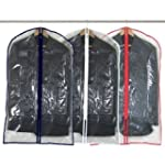 6 Crystal Clear Suit Covers - 100cm -...