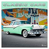 "Time Factory Classic Cars 12"" x 12"" January -December 2019 Wall Calendar (19-1039)"