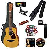 Yamaha JR1 FG Junior 3/4 Size Acoustic Guitar with Gig Bag and Legacy Accessory Bundle