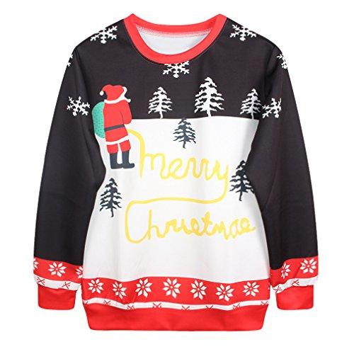 3D Christmas Design Unisex Long Sleeve Sweatshirts (B-1) (Drake And Lil Wayne Shirt compare prices)