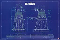 1 X Doctor Who Dalek Blueprint TV Television Show Poster Print 24x36 by Culturenik