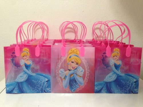 Disney Cinderella Party Favor Goodie Small Gift Bags 12