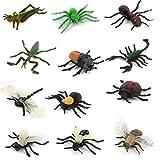 Modelos Animales Insectos Pvc Plastico Establecidos 12pcs Juguete Ninos Multicolor