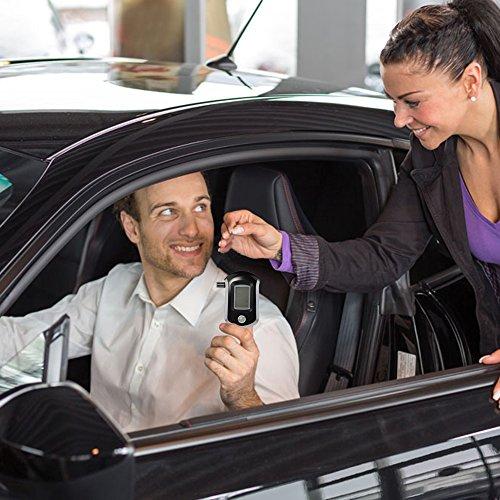 VicTsing Éthylotest Numérique Alcootest avec Capteur Semi-conducteur et Écran LCD pour Chauffeurs (5 Embouts inclus)