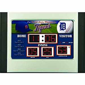 MLB Detroit Tigers Scoreboard Desk Clock by Team Sports America